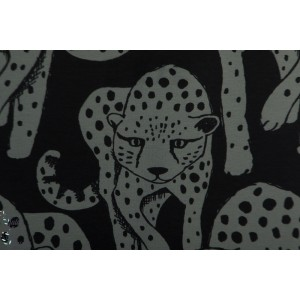 Jersey Bio PaaPii Cheetah dark grey Black