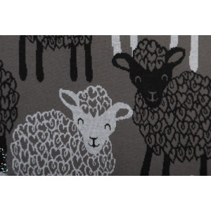 Jacquard knit Bio Paapii Bãã gris noir