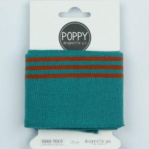 Cuff Poppy 8191- col 027 petrol / terra