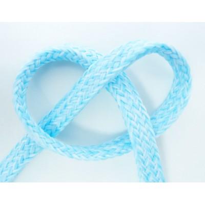 Cordon plat chiné bleu clair  au mètre