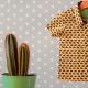 Popeline Bio Soft Cactus Rabbit Race - M - Jaune