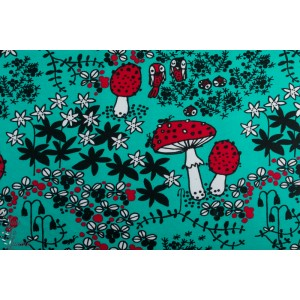 Terry Strech - Eponge sweat -  Paapii Mosspath turquoise red