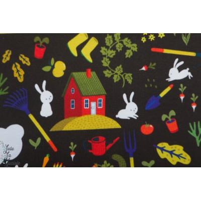 Jersey Bio Torpet svart  by Ernest lapin jardin noir