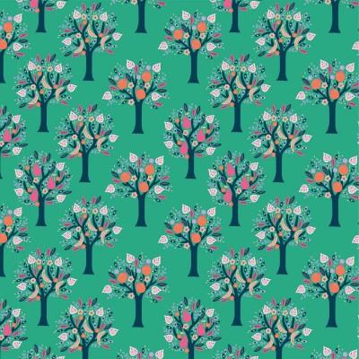 Tissu Popeline TulumTrees Katia fabric