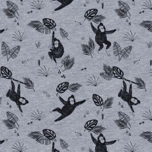 Tissu molletonné chiné singes  Katia Fabrics