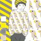 Jersey  Bio Diagonalen, gelb-beige Lillestoff