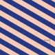 Jersey  Bio Diagonalen,royalblau-lachs Lillestoff