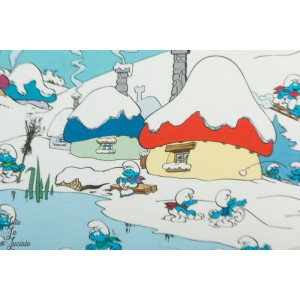 jersey Let's have Winter Fun  Smurf Vintage in my heart