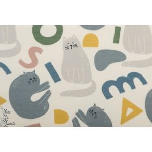 Sweat bio Elvelyckan Design Cat's n Shapes creme