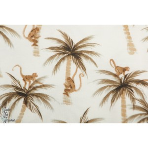 jersey  Palms & Monkeys Family Fabrics