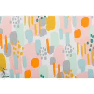 Sweat brosse Bio Poppy couleurs - Blanc