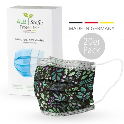 Masque chirurgical - Design botanical- Pack 20s