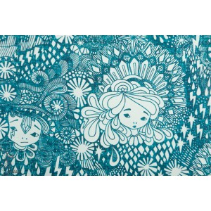 Jersey bio Ommellinen Sisareni turquoise fillette