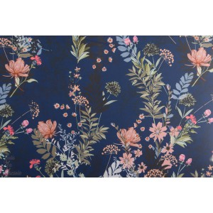 Softshell fleur bleu