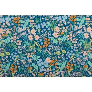 Popeline Cotton Steel Blue Meadow