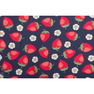 Jersey Vintage Botanical - fraise Marine