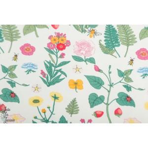 Jersey Vintage Botanical - herbier fond blanc