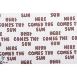 Jersey bio Retrosummer Here Comes The Sun, small brown  Lillestoff