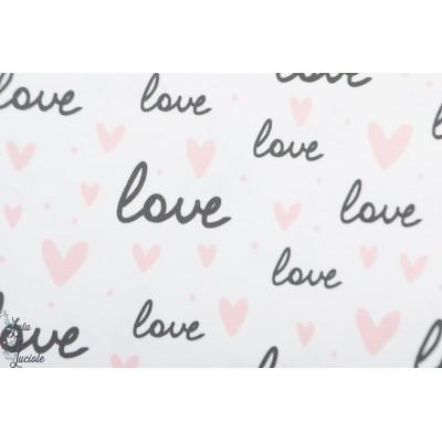 """Jersey """"""""Love """""""" en blanc"""