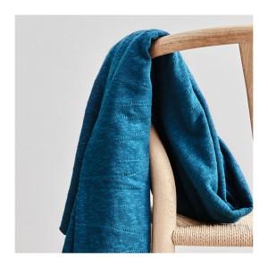 Organic Slub Jacquard Knit - Ocean  Mind The Maker