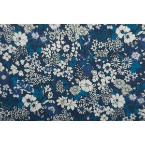 Coton Lawn Kokka retro Flower marine