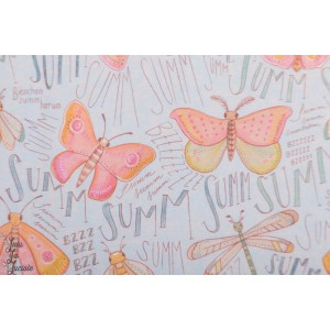 Jersey Bio Susalabims Schmetterlinge, blau Lillestoff