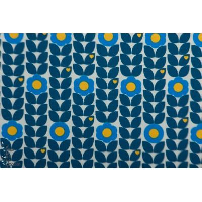 Jersey Blumenliebe Bleu ByGraziela