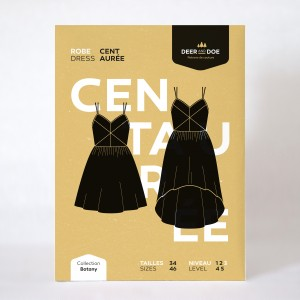 Patron couture femme mode  Robe Centaurée
