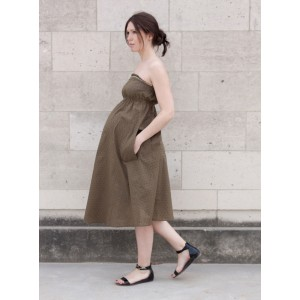 Patron  coutue robe COCONUT femme ENCEINTE atelier scammit grossesse