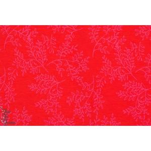 Jersey Bio Letizia Kombi rouge rose fleur femme enemenemeins lillestoff