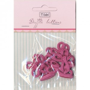 Brandebourg Tilda rose / 6 pc bouton chine