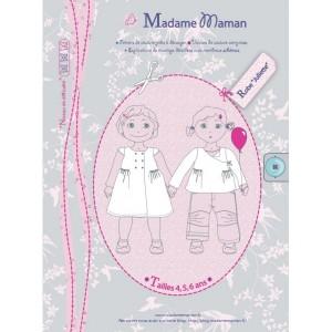 Patron couture mode enfant robe JULIETTE 8 à12 ans madame maman