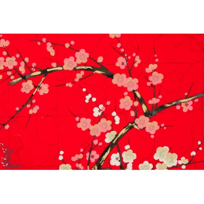 Popeline Golden garden rouge indochine alexandre henry japon