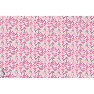 Popeline Sassy Cats - all angles rose géométrique michael miller