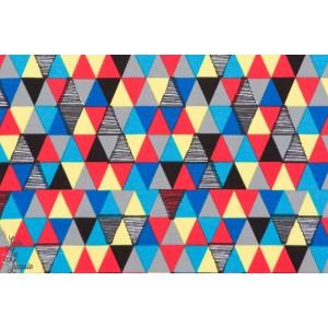 Jersey Bio Geolupus Kombi à combiné avec geolupus loup graphique, triangles multicolore- Design :Enemenemeins pour Lillestoff