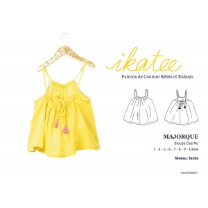 Patron r blouse dos nu  duo MAJORQUE 3-12 ans fille IKATEE