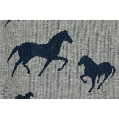 Jacquard mischa Chevaux gris horses