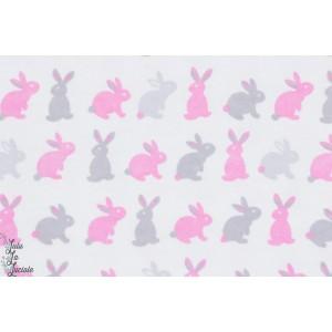 Coton peigné tout doux lapins rose