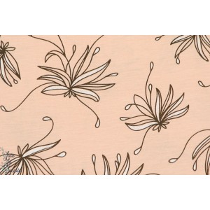 jersey viscose Modal Godd Mornig Lulu - fleur-  lillestoff